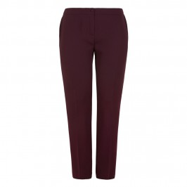MARINA RINALDI BORDEAUX COCKTAIL TROUSERS - Plus Size Collection