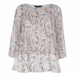 MARINA RINALDI CHIFFON FLORAL PRINT TUNIC - Plus Size Collection