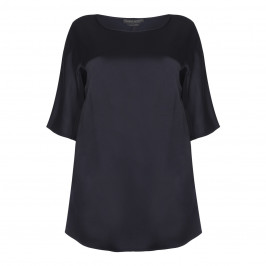 Marina Rinaldi navy satin Tunic - Plus Size Collection