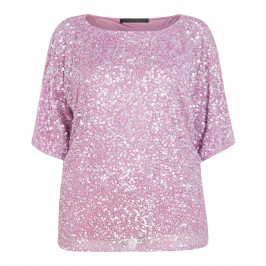 MARINA RINALDI SEQUIN EMBELLISHED TUNIC WISTERIA - Plus Size Collection