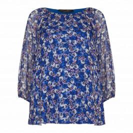 Marina Rinaldi silk chiffon Tunic with bell sleeves - Plus Size Collection
