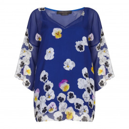 Marina Rinaldi silk chiffon floral print Tunic - Plus Size Collection