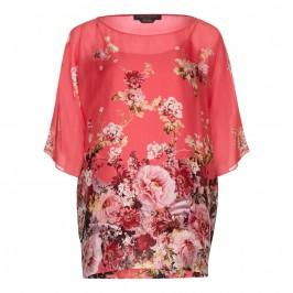 MARINA RINALDI silk floral TUNIC