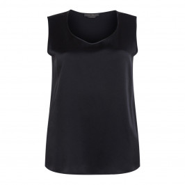 MARINA RINALDI BLACK SATIN VEST - Plus Size Collection
