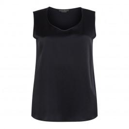 MARINA RINALDI BLACK SATIN VEST - Plus Size Collection
