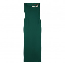 MARINA RINALDI green embellished gown and optional sleeves - Plus Size Collection