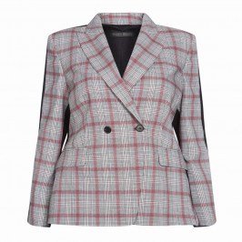 MARINA RINALDI TARTAN BLAZER - Plus Size Collection