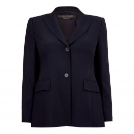 MARINA RINALDI VIRGIN WOOL BLAZER NAVY - Plus Size Collection