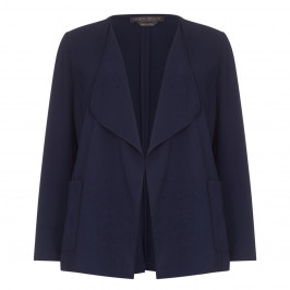 Marina Rinaldi navy waterfall suiting JACKET - Plus Size Collection