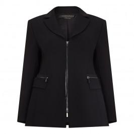 MARINA RINALDI TRIACETATE ZIP FASTEN BLAZER BLACK - Plus Size Collection