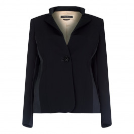 Marina Rinaldi Black Crepe Embellished Jacket - Plus Size Collection