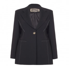 Marina Rinaldi Black contrast stitched JACKEt - Plus Size Collection