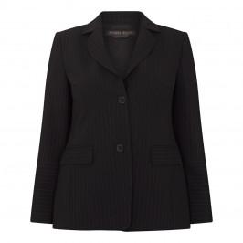 MARINA RINALDI PINSTRIPE BLAZER BLACK - Plus Size Collection