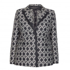MARINA RINALDI MONOCHROME SATIN JACQUARD BLAZER - Plus Size Collection