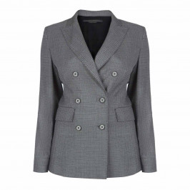 MARINA RINALDI DOUBLE BREASTED BLAZER GREY - Plus Size Collection