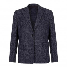 Marina Rinaldi NAVY CHECK JACKET