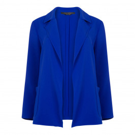 MARINA RINALDI CHINA BLUE TRIACETATE JACKET - Plus Size Collection