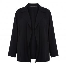 MARINA RINALDI BLACK TRIACETATE JACKET - Plus Size Collection