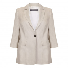 Marina Rinaldi ecru classic linen blazer - Plus Size Collection