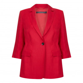 Marina Rinaldi red classic linen blazer - Plus Size Collection