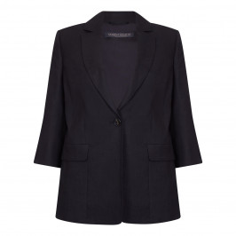 Marina Rinaldi black classic linen blazer - Plus Size Collection