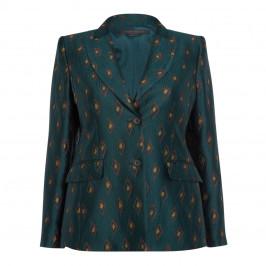 MARINA RINALDI JACQUARD BLAZER GREEN - Plus Size Collection