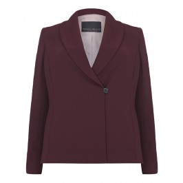 Marina Rinaldi bordeaux suiting jacket - Plus Size Collection
