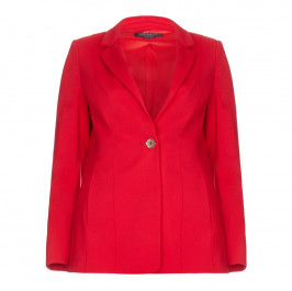 Marina Rinaldi red structured single breasted blazer