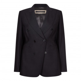 MARINA RINALDI GREY STRETCH WOOL JACKET - Plus Size Collection