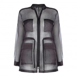 MARINA RINALDI BLACK SILK ORGANZA JACKET - Plus Size Collection