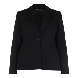 MARINA RINALDI BLACK PUNTO MILANO TAILORED BLAZER - Plus Size Collection