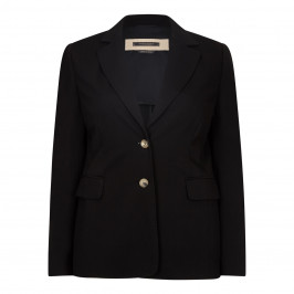 MARINA RINALDI BLACK SINGLE BREASTED BLAZER - Plus Size Collection