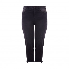 ASHLEY GRAHAM X MARINA RINALDI BLACK TWO TONE DENIM JEANS - Plus Size Collection