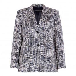 MARINA RINALDI TWEED JACKET NAVY - Plus Size Collection