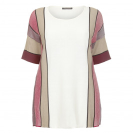 MARINA RINALDI PRINT Mahogany VERTICAL STRIPE TUNIC  - Plus Size Collection