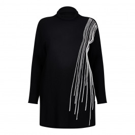 Marina Rinaldi monochrome KNITTED TUNIC - Plus Size Collection