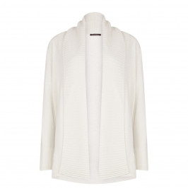 Marina Rinaldi shawl neck rib detail cream cardigan - Plus Size Collection