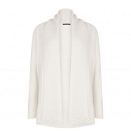 Marina Rinaldi shawl neck rib detail cream cardigan - Plus Size Collection