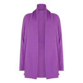 Marina Rinaldi shawl neck rib detail wisteria cardigan - Plus Size Collection