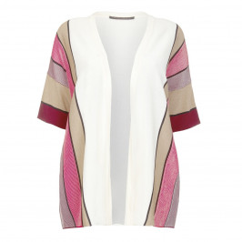 MARINA RINALDI Mahogany VERTICAL STRIPE CARDIGAN  - Plus Size Collection