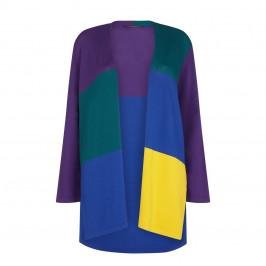 Marina Rinaldi Long Colour Block Cardigan - Plus Size Collection