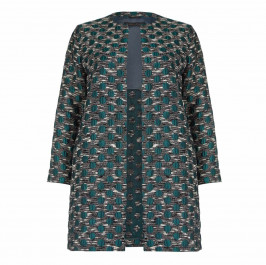Marina Rinaldi polka dot brocade long jacket - Plus Size Collection