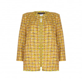 Marina Rinaldi lurex tweed LONG JACKET