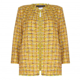 Marina Rinaldi lurex tweed LONG JACKET - Plus Size Collection