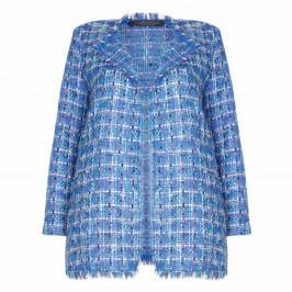 Marina Rinaldi blue tweed lurex JACKET - Plus Size Collection