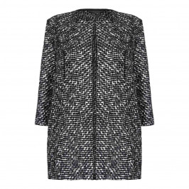 MARINA RINALDI MONOCHROME TEXTURED JACKET - Plus Size Collection