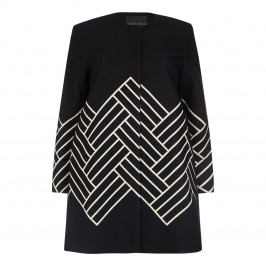 Marina Rinaldi Long wool mix chevron Jacket - Plus Size Collection