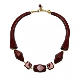 Marina Rinaldi red and aubergine NECKLACE - Plus Size Collection