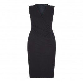 MARINA RINALDI BLACK CROSS FRONT DRESS WITH OPTIONAL SLEEVES - Plus Size Collection