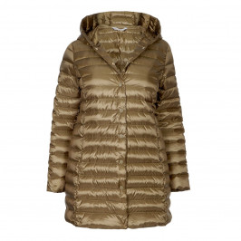 MARINA RINALDI BRONZE PUFFER COAT - Plus Size Collection
